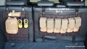 Springtail Solutions | Molle Pouches & bags | M-PAC Storage rack for Toyota FJ Cruiser and Jeeps | Off Road Storage for Jeeps and Toyota SUV...