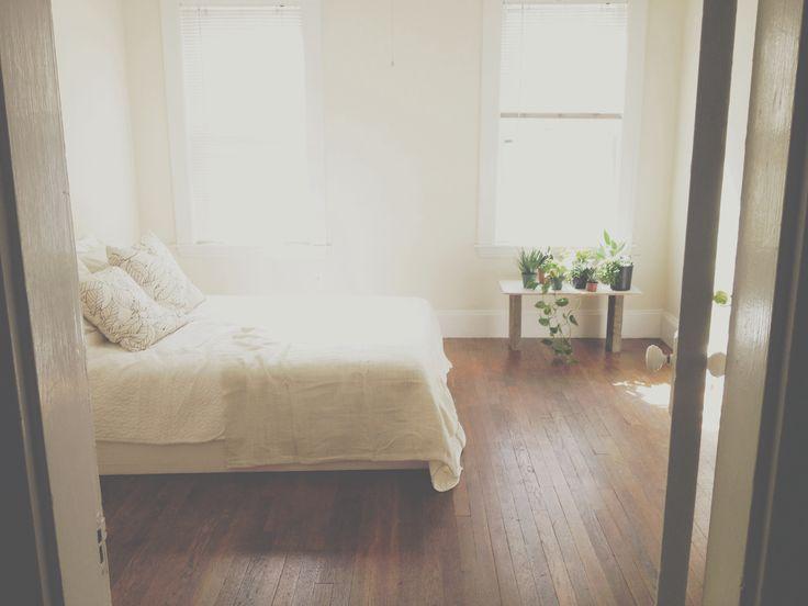 My minimalist bedroom!