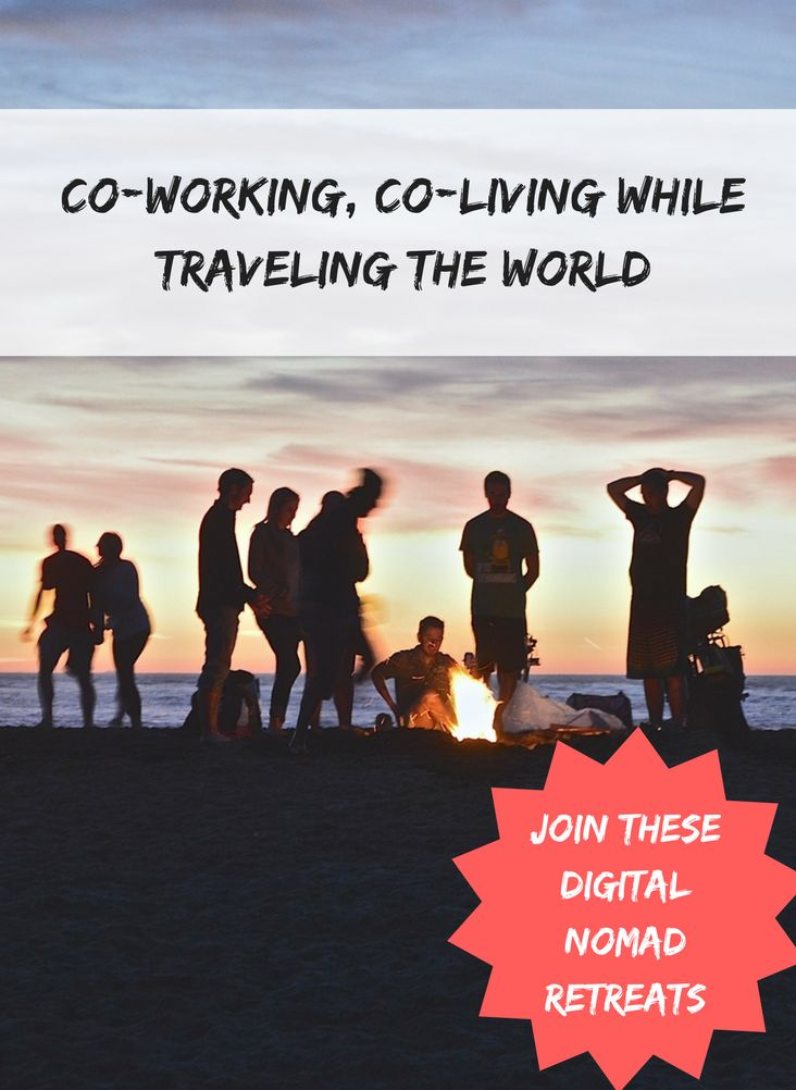 Co-working, co-living and traveling. Find out about different groups you can join for your #digitalnomad journey.