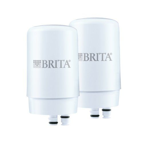 nice Brita On Tap Faucet Water Filter System Replacement Filters, White, 2 Count