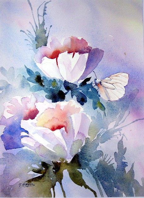 Cliquez Pour Agrandir Flowers In Watercolors Pinterest