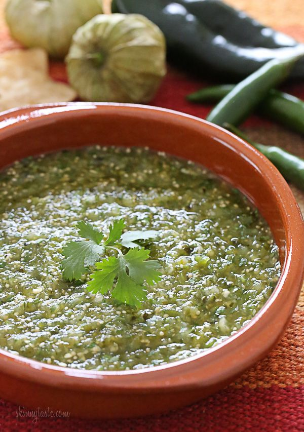 I am obsessed with Salsa Verde! and this one is from my fav recipe site skinnytaste.com