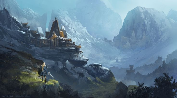 Fantasy Mountain Fortress mountain fortress by nathan elmer *i ...