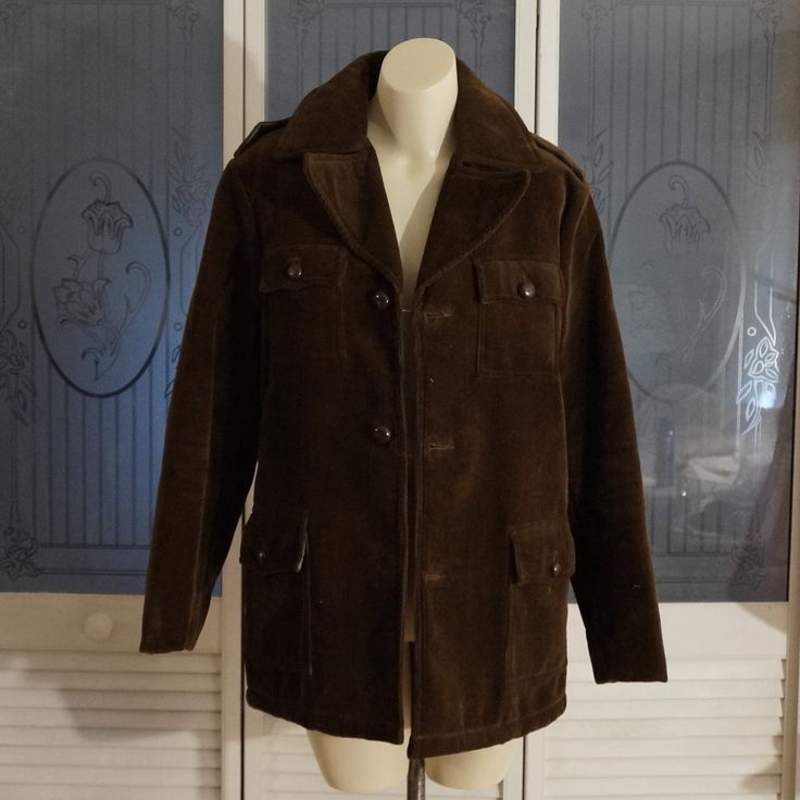 Vintage Pinetrail Quilted Corduroy Coat Jacket Brown by NotSewIdle on Etsy