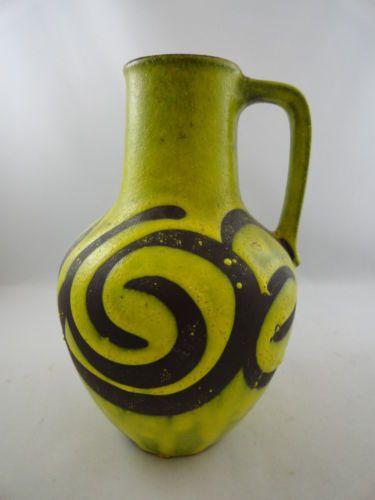 MCM-Carstens-Fat-Lava-Op-Art-Pottery-Vase-West-Germany