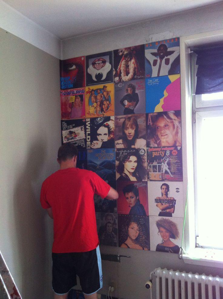 LP-cover væg