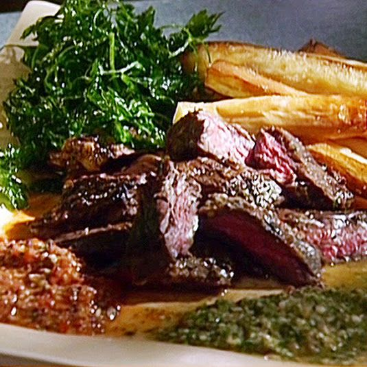 Skirt Steak with Chimichurri Sauce by Emeril Lagasse