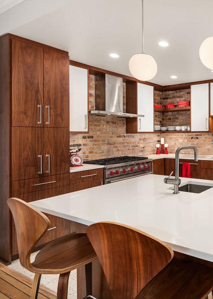 Mid Century Modern Kitchen Eames Bartstools Kitchen Remodel Kitchen Design By Habitar Design Kitchen Design Modern Kitchen Design Modern Kitchen