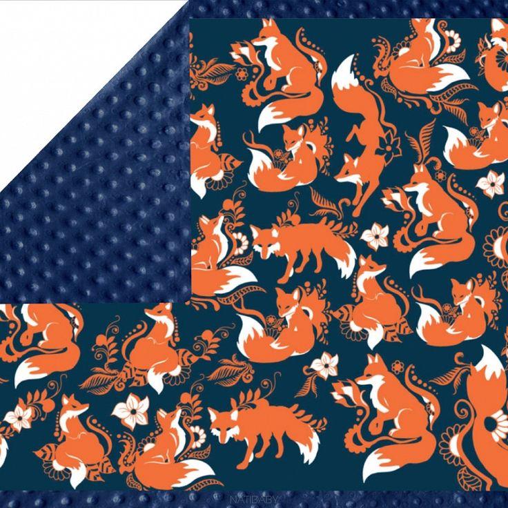 NatiBlanket Foxes Orenji
