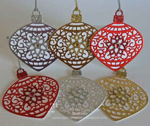 Stampin' Up! Delicate Ornaments Gift Tags - Judy May, Just Judy Designs