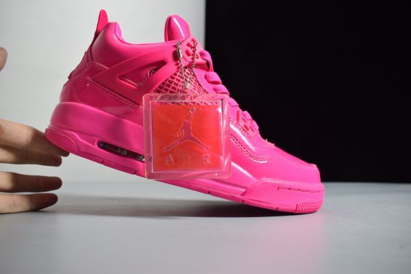 b9205ed851542e Air Jordan 4 Retro GS 11Lab4 Pink Patent Leather Girls Size in 2019 ...