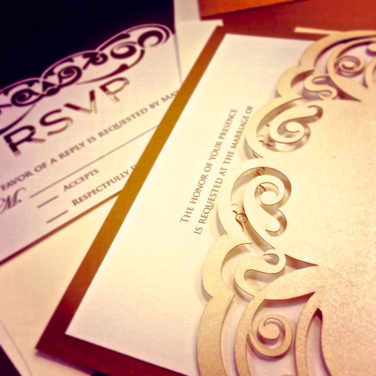 Get inspired- beautifully designed laser cuts add an original, unique and elegant element to your invitations.