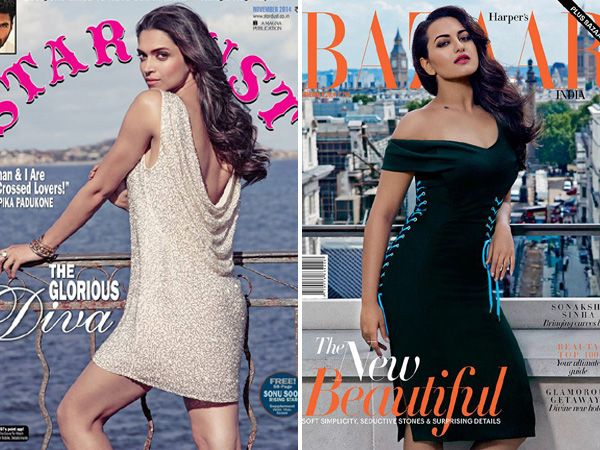 It's the first week of November and the magazine stands are stocked with the latest editions of all our favourite glossies. And while most of them are glamorous thanks to the bridal month, we're torn between the curvy Sonakshi Sinha on Harper's Bazaar and the sexy Deepika Padukone on Stardust. Take your pick and tell us who you think shines brighter on the glossies this month. Don't Miss: Kangna Ranaut Vs Sonam Kapoor on October Mag Covers