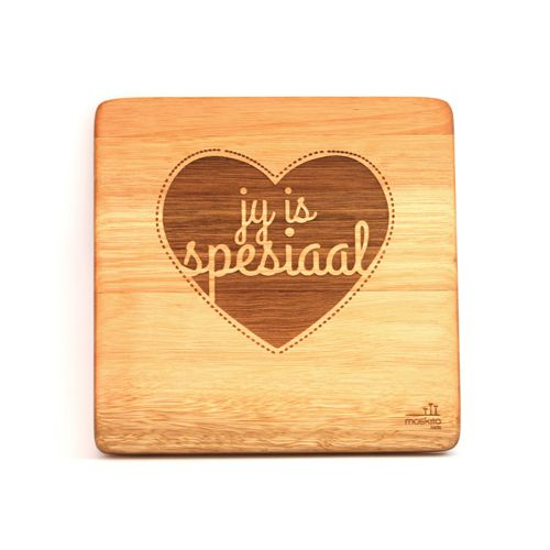 """""""Jy is spesiaal."""" A simple, creative design but such beautiful words. These can be bought individually or buy the whole set!"""