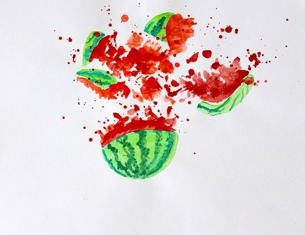 Watermelon Explosion, Food Decor