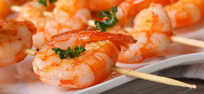 Low carb shrimp recipes are a great option for a light, yet satisfying meal. Try a low carb shrimp scampi recipe or another shrimp recipe from Atkins.