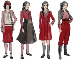 legend of korra the legend of korra lok artbook asami Asami Sato book 4 legend of korra artbook book 4 artbook finally some hd scans of that concept art I've been cringing all week seeing those other posts floating by don't get me wrong I really appreciate the effort they put into making those images but I needed high def quality of these outfits tbh