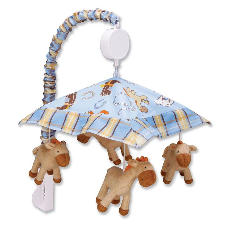 Trend Lab Cowboy Baby Musical Mobile, Multicolor