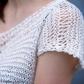 Kit tricot by WoolKiss : Top été en coton à tricoter French Riviera