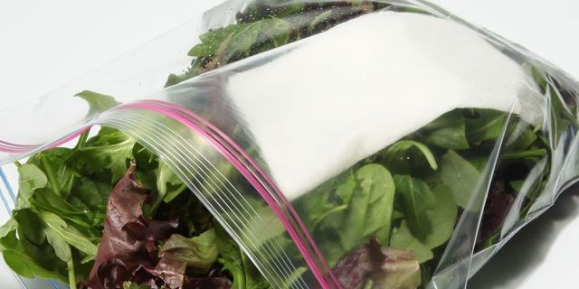 Store paper towels in the salad drawer. Lining your crisper with a few sheets of paper towels absorbs the condensation that the veggies generate as they chill.