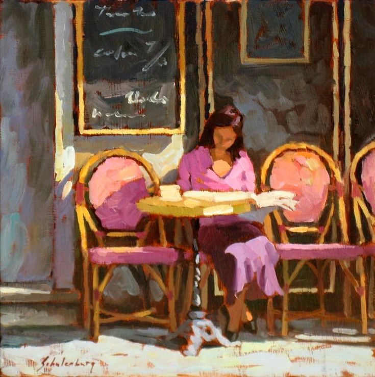 chasingtailfeathers:  Paul Schulenburg, Bastille Cafe, 2012. i love the colors and the light