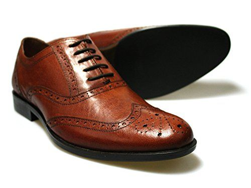 Red Tape Feale Brown Leather Men's Brogue Shoes