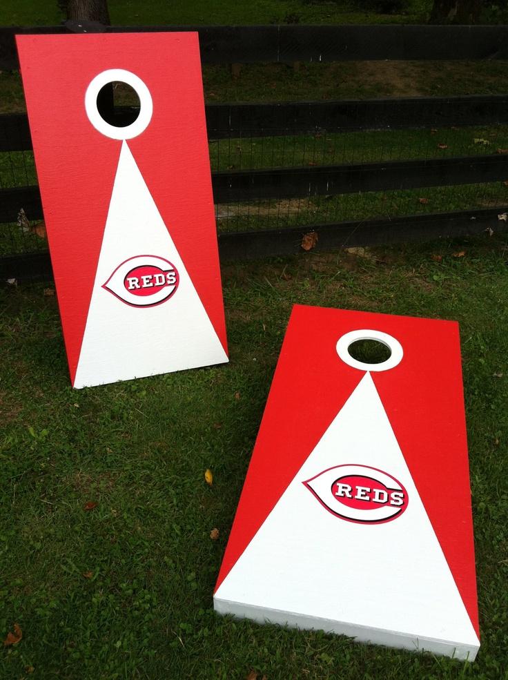 New Cincinnati Reds Cornhole Boards Bean Bag Toss By