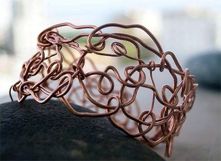 Bird's Nest Copper Cuff, $30.00