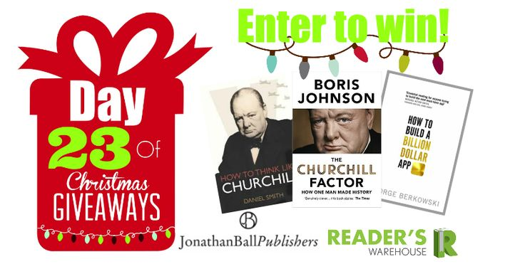 Become a leader with Day 23 Hamper sponsored by @JonathanBallPub, learn all about Churchill and how to build a million dollar app! Enter here: https://gleam.io/Sdn1R/day-23-of-christmas-giveaways