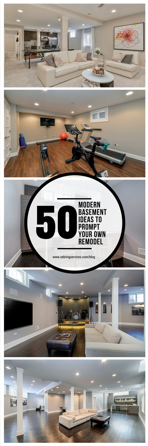 There is no shortage of modern basement ideas to borrow from. Unused basements tend to get filled with every old and unwanted item in the house from worn out furniture to childhood memorabilia. Unfortunately, this is letting precious square footage go to waste. The basement is a perfect space that could be transformed into a warm and welcoming area for your family and friends to enjoy.
