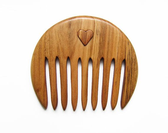 Handmade Wooden Hair Comb No Static Cherry Wood by forEVAhairforks