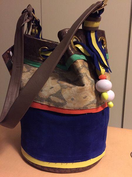 Borse pitonata a secchio misura grande di Le borse di Picchi su DaWanda.com