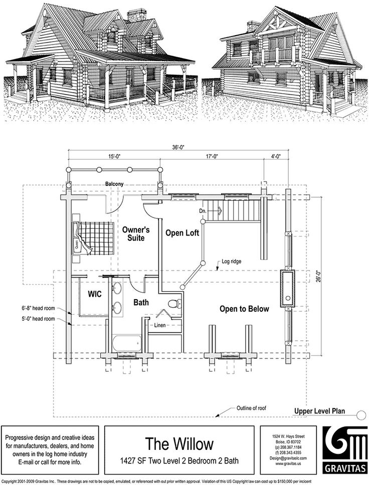 Cabin Plan Small Cottage Housecottage