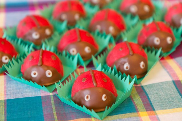 "Some really cute food ideas for a ""garden"" party, could also be used for picnic, BBQ, bug themes"