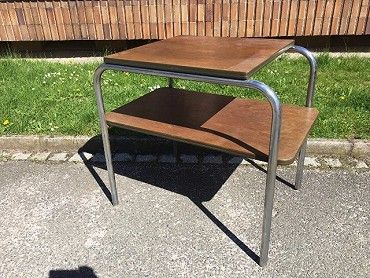 Odkládací chromový stolek STŮL ART DECO. Nejlépe