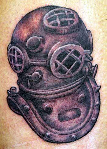 diving helmet tattoo