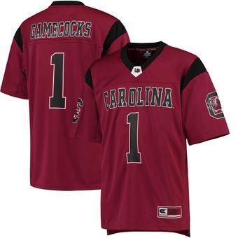 #1 South Carolina Gamecocks Colosseum Hail Mary Football Jersey - Garnet
