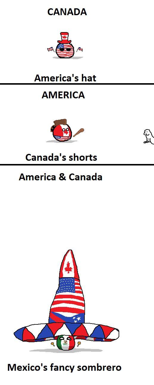 Clothing ( Canada, USA, Mexico ) by Sir Derp Of Camelot #polandball #countryball #flagball