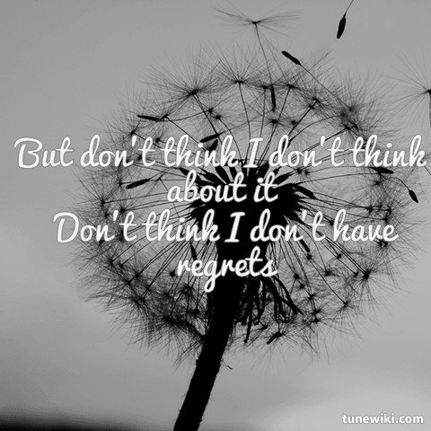 -- #LyricArt for Dont Think I Dont Think About It by Darius Rucker