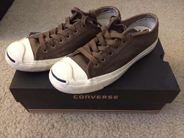 Converse Jack Purcell men's leather sneaker chocolate size 6.5 #Converse #FashionSneakers