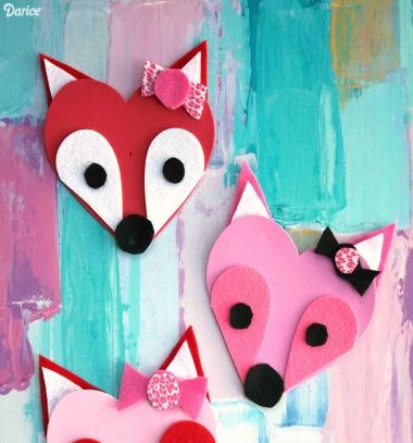 DIY Heart fox - Valentine's day craft for kids // Szív róka - kreatív (Valentin napi) ötlet gyerekeknek // Mindy - craft tutorial collection // #crafts #DIY #craftTutorial #tutorial
