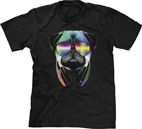 Blittzen Mens T-shirt Pug Sunglasses Headphones, XL, Black:   Have you been to Ultra Music Festival in Miami, Electric Daisy Carnival in Las Vegas, New York City's Electric Zoo, or TomorrowWorld outside of Atlanta? Do you drop bass not bombs? Is Eat Sleep Rave Repeat your mantra? (No Molly or Ecstasy here though) Nightclubs, raves, and festivals are about the music: dubstep, electronic dance music (EDM), rap, rock, pop, house, techno, trance, or whatever your flavor is. DJ's may play t...