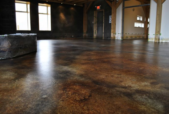 17 best images about stained concrete on pinterest for Painting indoor concrete floors