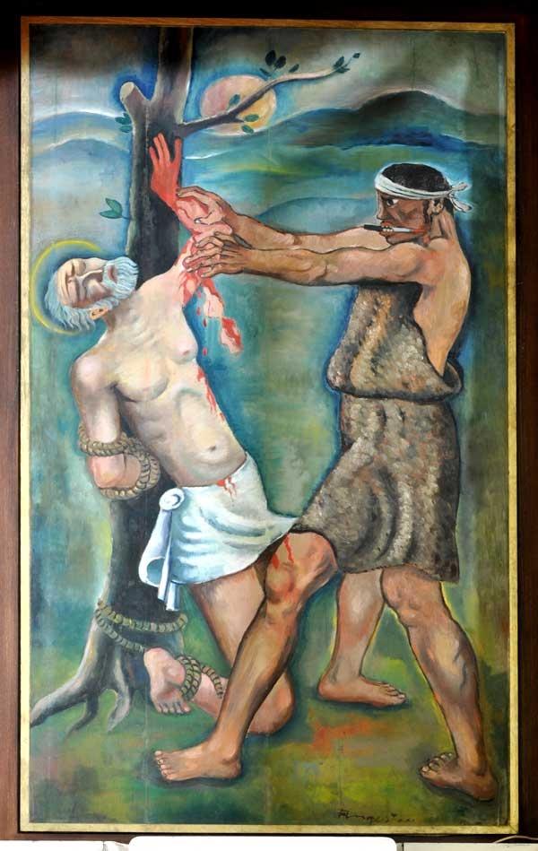 Martirio di San Bartolomeo - Michel Fingesten IMMAGINE ESCLUSIVA!  http://www.extramoeniart.it/mi-ritorna-in-mente/l-arte-oltre-il-filo-spinato