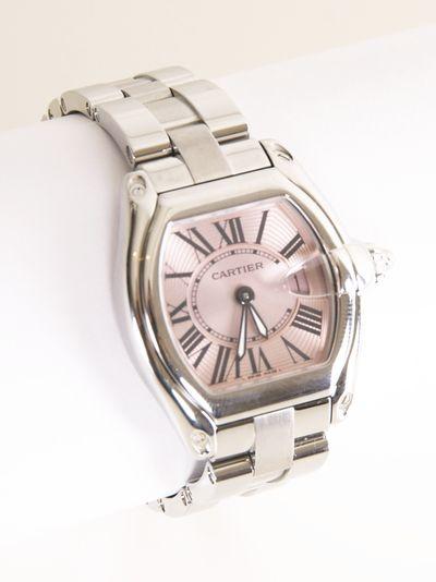 Cartier Roadster Ladies Pink Dial Watch