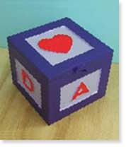 Transform a simple wooden box with your favourite Resene testpot colours.