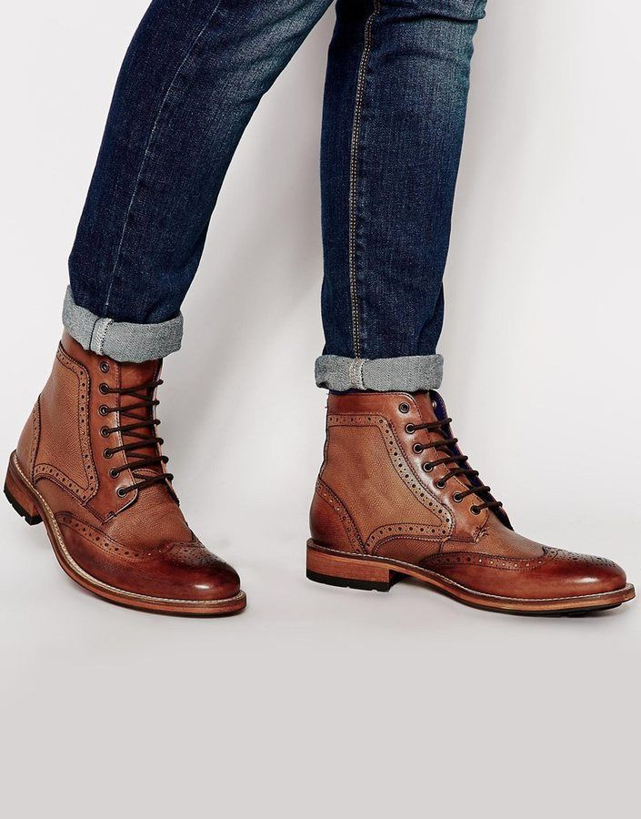 $290, Sealls Brogue Boots by Ted Baker. Sold by Asos. Click for more info: http://lookastic.com/men/shop_items/172913/redirect