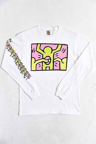 Junk Food Keith Haring Holes Long-Sleeve Tee - Urban Outfitters