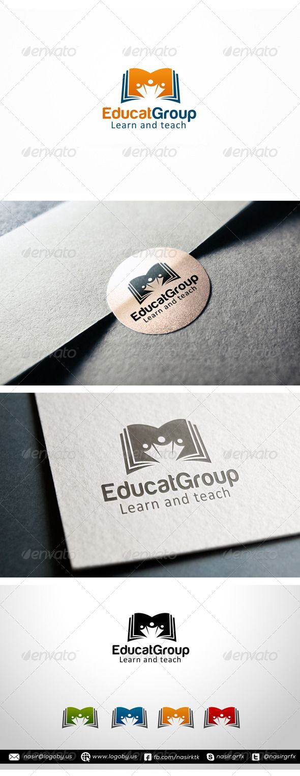 Group Study - Logo Design Template Vector #logotype Download it here: http://graphicriver.net/item/group-study/7563392?s_rank=896?ref=nexion
