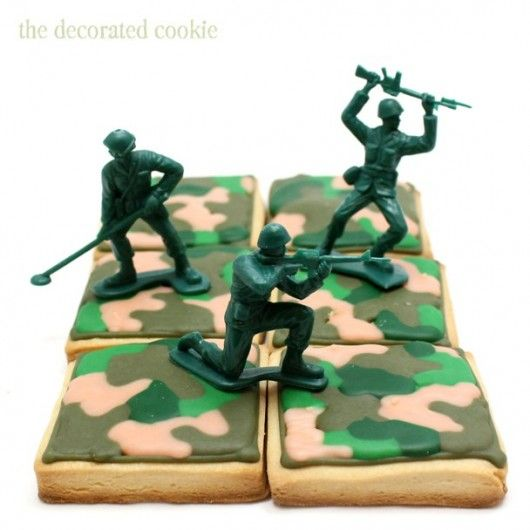 25 best ideas about Camo Cookies on PinterestMilitary cupcakes